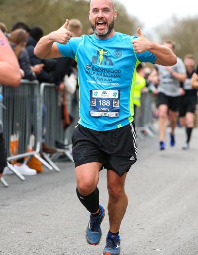 Runner in Brentwood Half Marathon